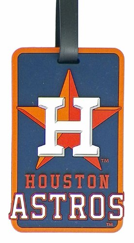 Houston Astros - MLB Soft Luggage Bag Tag by Aminco