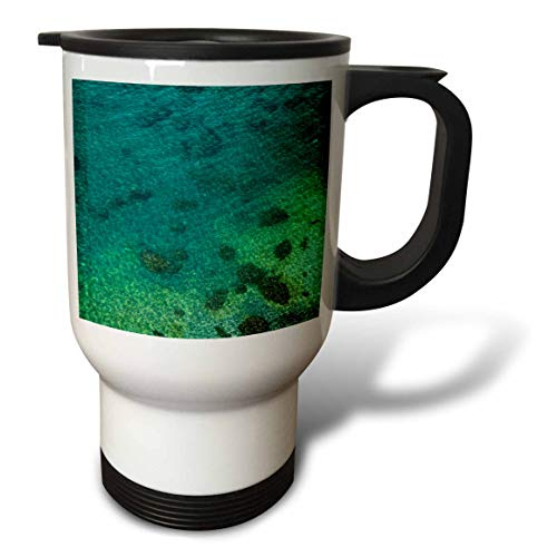 3dRose Elysium Photography - Seascape - Mediterranean water at Sorrento, Italy - 14oz Stainless Steel Travel Mug ()