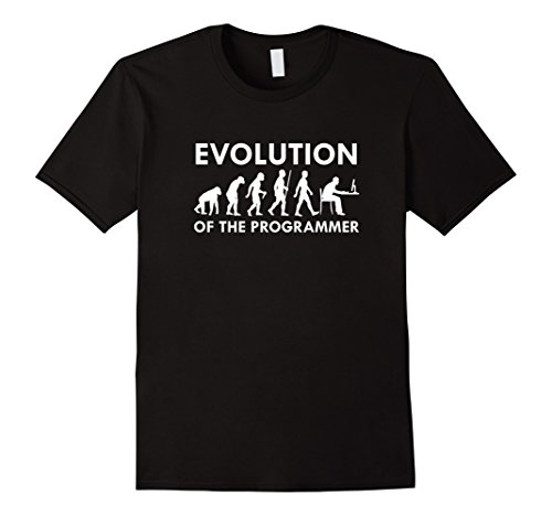 Men's Evolution Of The Programmer Funny Gift T-Shirt  Medium Black