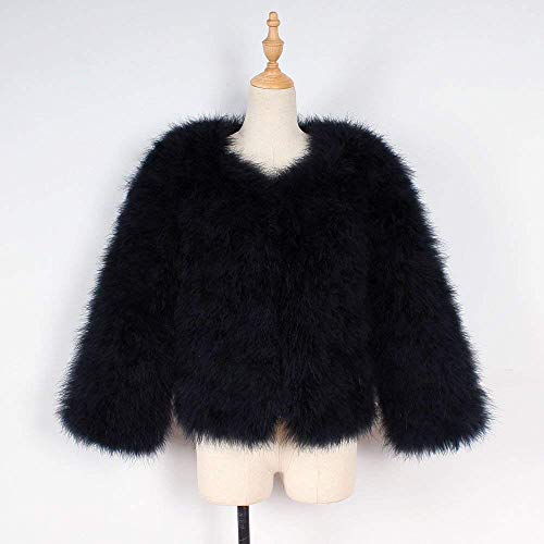 xl Otoño Blanco Casual Mujer Outwear Abrigo cn Negro Invierno Avestruz Oudan color Mullido Xmax Falso Chaqueta Señoras Parka 42 Abrigos Tamaño Las Plumas Suave De Suelto Eu nwRz4q