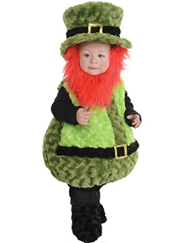 Underwraps Baby's Lil Leprechaun Belly-Babies, Green/Black/Orange, Large (Toddler Leprechaun Costume Boy)