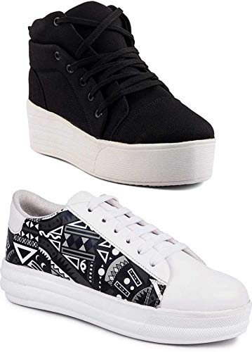 Women Casual Black Sneakers Girls Shoes