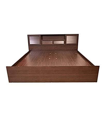 hometown bali queen bed with super storage matt finish wenge - Bed
