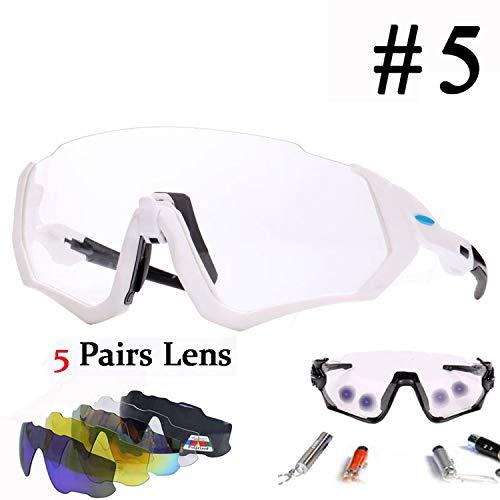 Cycling Bicycle Bike Glasses Outdoor Sports MTB Bicycle Bike Sunglasses Goggles Bike Eyewear,Photochromic JKF-005
