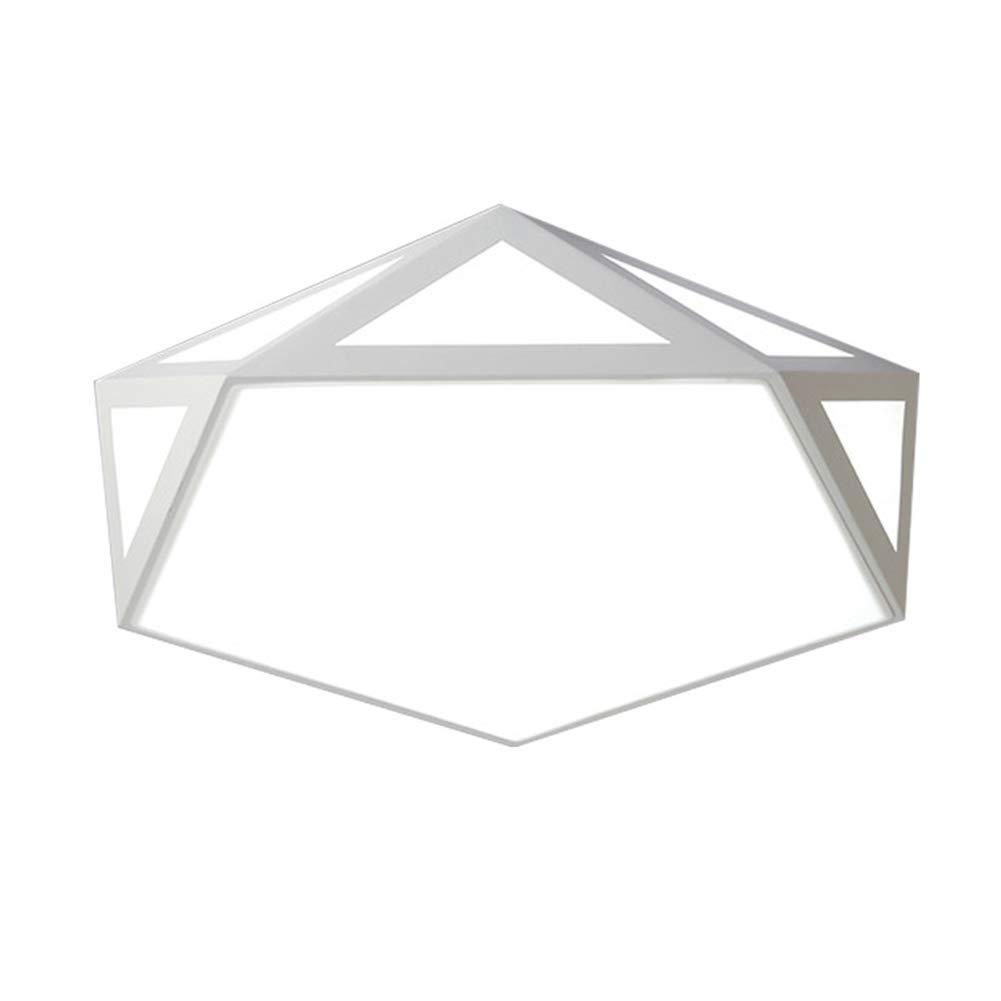 Deckenleuchte LED Schmiedeeisen Hohl Geformt Moderne Wohnzimmer Schlafzimmer Studie Weiße Abdeckung 24w Weißes Licht 42 Cm
