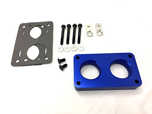 NEW Blue Aluminum Throttle Body Spacer Fits 87-95 Ford Bronco / F-150 5.0L 5.8L Aluminum Throttle Body