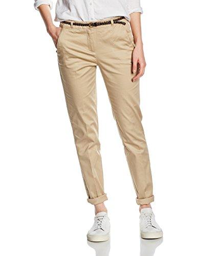 Vero Moda Vmroos Slim Fit Pants A - Pantalones Mujer Beige (Stocking Beige/Knitted )