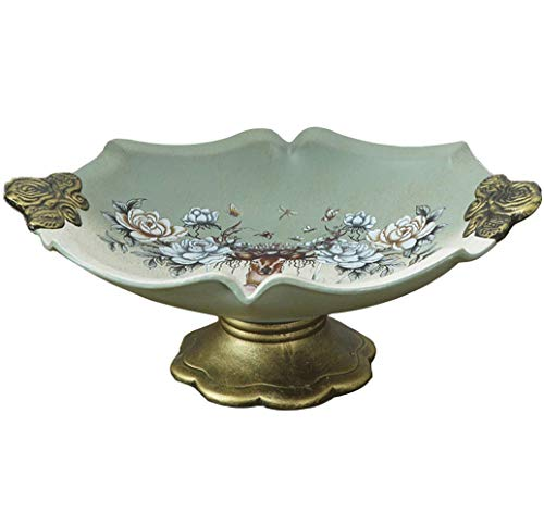 (FOTEE Fruit Bowl Basket, Compote Centerpiece Decorative Fruit Dish Footed Bowl Dessert Plate Candy Dishes)