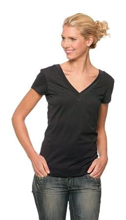 17404aa1100 BELLA - t-shirt manches courtes col V grand décolleté devant derrière  120.06 - femme