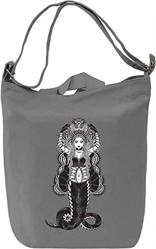 Snake Borsa Giornaliera Canvas Canvas Day Bag| 100% Premium Cotton Canvas| DTG Printing|