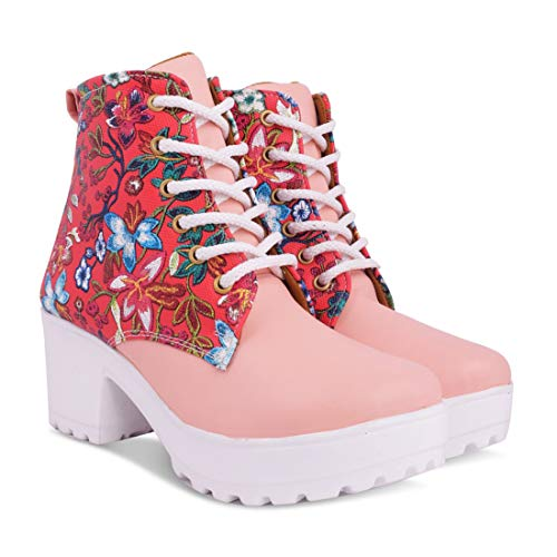 Longwalk Women's Floral High Ankle Boots