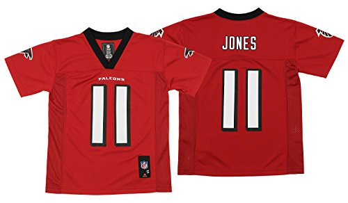 NFL Youth Boys 8-20 Julio Jones Atlanta Falcons Boys -Player Name Jersey, Crimson, Xl(18) - Falcons Youth Team Color