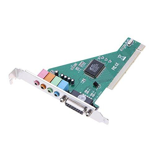 Alloet 4.1CH PC Independent PCI Audio Sound Card Support Windows 10 32/64 bit