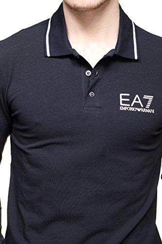 Emporio Armani Herren Poloshirt schwarz schwarz