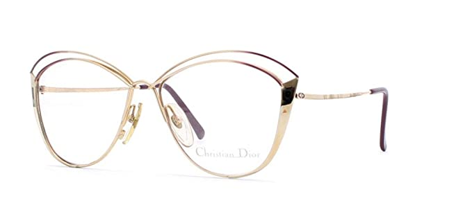 74004e60b6d Christian Dior 2413 48 Gold Authentic Women Vintage Eyeglasses Frame ...