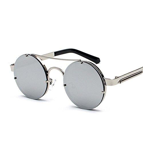 Aoligei Européen et américain rétro punk tour frame lunettes de soleil mode exquise lady lunettes de soleil miroir jambe design verres B