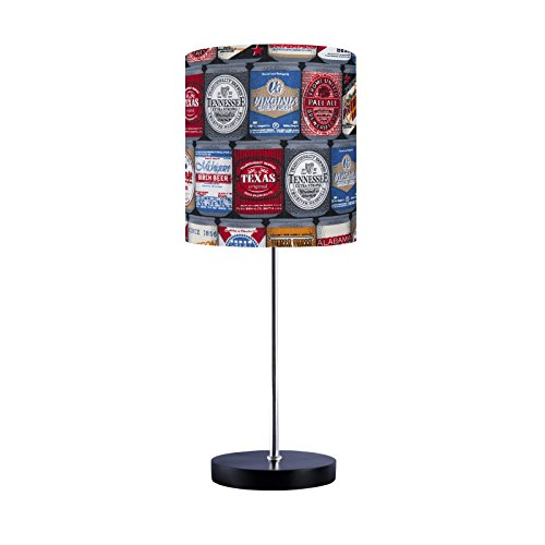 Abajur Luminária Sala Quarto Beer Collection Rótulo de Cerveja Carambola