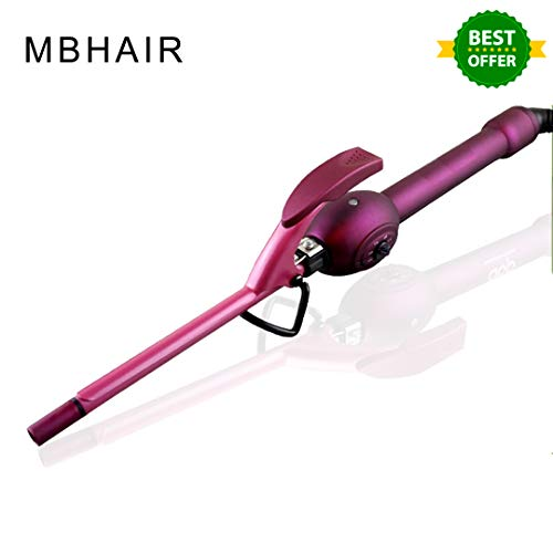 Professional 9mm Unisex Hair Curler, Thick Curling Wand,Hair Curling Iron Ceramic Tongs for Short and Long Hair curl your hair without heat
