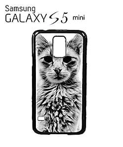 Cat Kitten Angry Grumpy Meow Cell Phone Case Samsung Galaxy S5 Mini Black