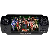 PSP Classic Handheld Gaming Console 8 GB with 10000 Games PlayStation with preloaded games,WiFi,FM,TF Memory Card and camera 4.3 inch Screen Full HD 1080p [ Black ] WireShop