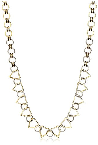 nOir 14K Gold-Plated Geo Pave Open Necklace -