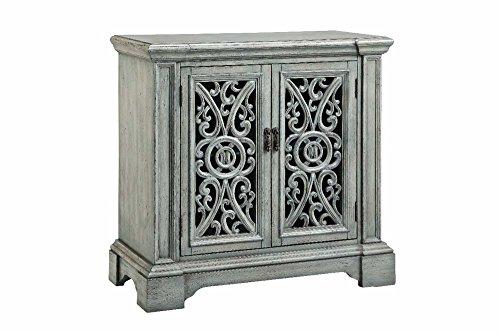 Stein World Furniture 2 Carved Door Cabinet, Soft Verdigris