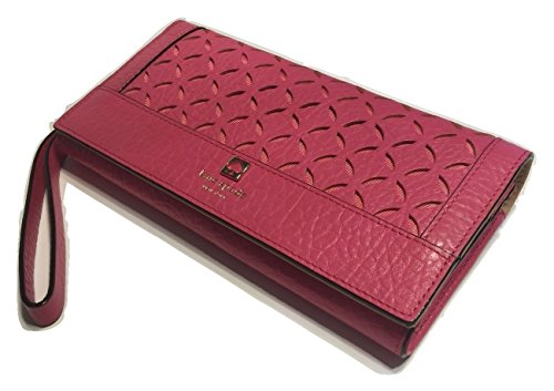 Kate-Spade-New-York-Perri-Lane-Linney-Leather-Clutch-Wallet-WLRU2195-Caberet-Pink