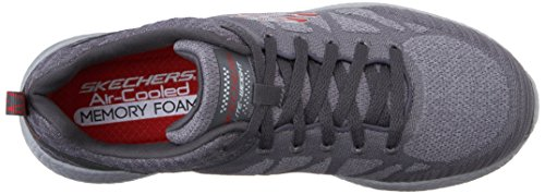 Men's Skechers Closer Charcoal Energy Oxford Burst Red Sport Deal 5qwqrzpv