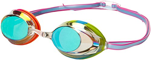 Speedo Vanquisher 2.0 Mirrored Swim Goggle, (Rainbow Goggles)