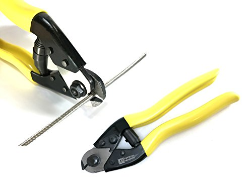 Cable Cutter for Stainless Steel Wire Rope Aircraft Bicycle Cable and Housing, Cuts Up to 5/32