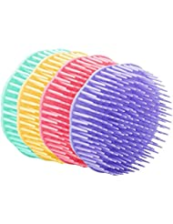 Shampoo Scalp Massage Brush,4 pack Assorted Colors (Random color)