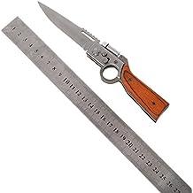 Coldgirl AK 47 Folding Army Pocket Knife, Blade Wood Handle Outdoor EDC Tool