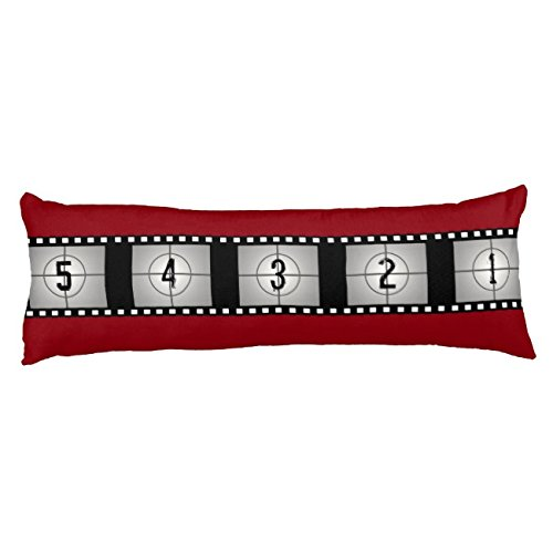 UOOPOO Movie Film Strip Countdown Polyester Body Pillow Cover Square 20 x 54 Inches for Bed Print on Twin Sides