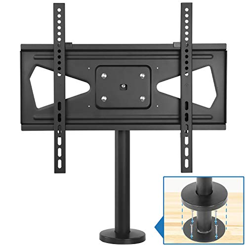 Mount-It! Bolt Down TV Stand | Heavy Duty Swivel Table Top TV Mount for Screens 32