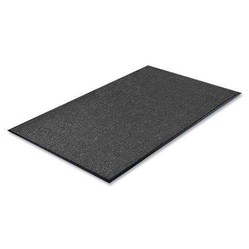 - Genuine Joe GJO56352 Indoor Mat with Moisture Absorbent, 3' x 5', Charcoal/Vinyl Back