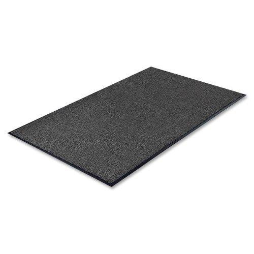 Genuine Joe GJO56352 Indoor Mat with Moisture Absorbent, 3' x 5', Charcoal/Vinyl Back