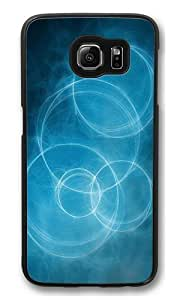 Abstract circles Custom Samsung Galaxy S6/Samsung S6 Case Cover Polycarbonate Black