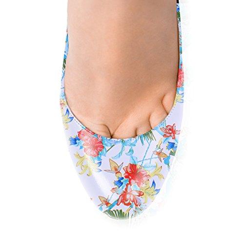 Ubeauty Chaussures Taille Aiguille Femmes Escarpins Grande Stiletto b Talon Bout Rond Multicolore R1E1Hwnq6
