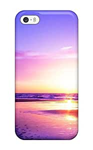 AWU DIY5/5s Scratch-proof Protection Case Cover For Iphone/ Hot Bicycle Sunset Phone Case