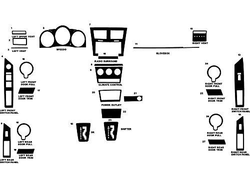 (Rdash Dash Kit Decal Trim for Dodge Avenger 2008-2010 - Carbon Fiber 4D)