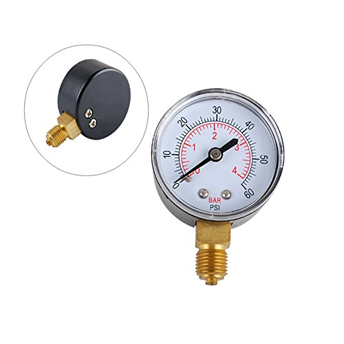 Spa Filter Pressure Gauge (Podoy 80960BU Pool Spa Filter Water Pressure Gauge 0-60 PSI 1/4-Inch Pipe Thread)