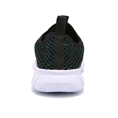 AUTUWT Boys Breathable Mesh Sneakers Lightweight Kids Casual Strap Running Shoes Green 30 by AUTUWT (Image #4)