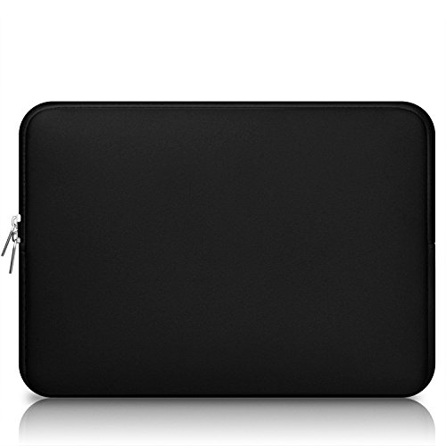 "CCPK 15 Inch Laptop Sleeve 15-15.6 Inch Compatible for MacBook Pro 15.4-inch Soft Case Cover Bag 15"" Computer Protective Bags Notebook Paded Sleeves Neoprene, Black"