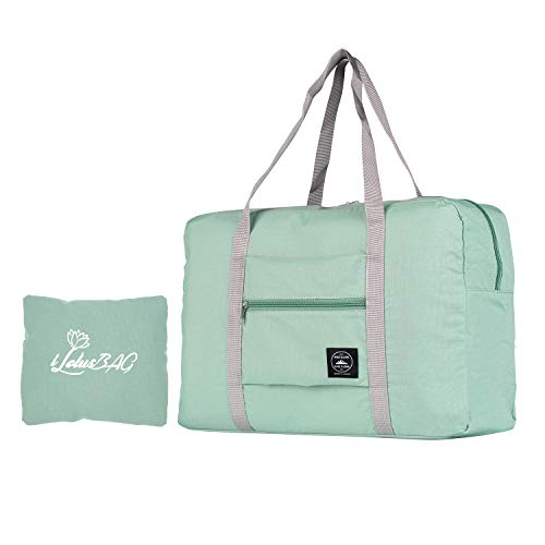 dable Duffel Bag for Women & Men,Lightweight Waterproof Carry-on Bag,Travel Luggage for Sports Gym,Travel Tote Luggage Bag(Mint Green) ()