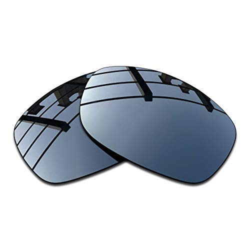SEEABLE Premium Polarized Mirror Replacment Lenses for Oakley Sideways Sunglasses - Black Chrome ()