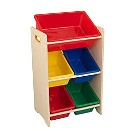 Natural and Primary Polyester 5-bin Storage Unit