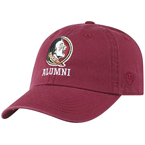 Top of the World NCAA-Alumni-Cotton Crew-Adult Adjustable Strapback-Hat Cap (Florida State Seminoles-Garnet, Adjustable)