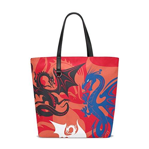 TIZORAX - Bolso de tela para mujer multicolor