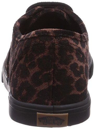 Bestelwagens Unisex Authentieke Lo Pro Schoenen Suede Leopard Zwart / Zwart