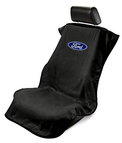 Logo Car Seat Towel (Seat Armour SA100FORB Black 'Ford' Seat Protector Towel)